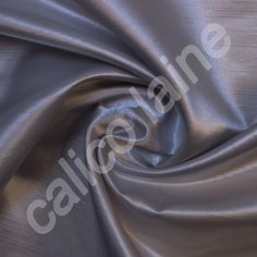 Charcoal Satin Back Dupion Fabric 100% Polyester Dressmaking Fabric By The Metre