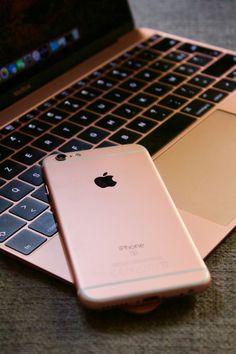 MacBook and iPhone 6s
