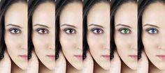 Coloring eyes with PhotoLine - Photoeditingsoftware