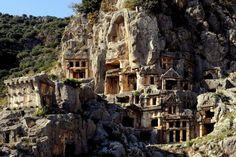 Lycian Tombs. Lycia. Turkey