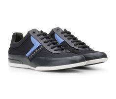 ccc3ad21cb13aa Zapatos Hugo Boss ® Space Lowp - Azul | ENVÍO GRATIS Hugo Boss Shoes, Hugo