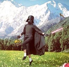 star wars, darth vader, and funny image Star Trek, Star Wars Art, Cool Pictures, Cool Photos, Funny Pictures, Iron Man Cartoon, Sabre Laser, Cartoon Gifs, Anakin Skywalker