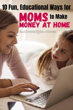 Whether you are looking to make a little extra income or pay the bills there are plenty of educational ways for moms to make money from home. #Mompreneur #MakeMoneyOnline #EarnExtraIncome #MakeMoney #EarnMoney #Mom #Financial #OnlineJobs Earn Extra Income, Extra Money, Earn Money From Home, Make Money Online, Organized Mom, Mom Day, Make Money Fast, Money Matters, Working Moms