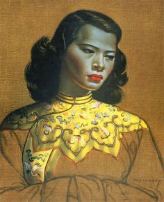My Bohemian Aesthetic Chinese Girl, Yellow Jacket by Vladimir Tretchikoff Robert Doisneau, Kitsch, South African Artists, Painting Of Girl, Poster Prints, Art Prints, Henri Matisse, Mellow Yellow, Art Girl