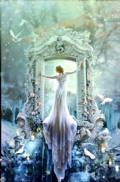 Fantasy And Fairy Tales Dream Foto Fantasy, Fantasy Magic, Fantasy Kunst, Fantasy World, Fantasy Photography, Snow Queen, Story Inspiration, Belle Photo, Faeries