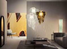 Η οραματική αρχιτεκτονική της διάσημης Zaha Hadid πλέον σωματοποιείται και στα φωτιστικά εσωτερικών χώρων. Η επαναστατική εικονική σημασιολογία αντικατοπτρίζεται στη ρευστότητα και δυναμική που παρουσιάζεται με το χειροποίητο Φωτιστικό Οροφής Led Aria. Ένα φωτιστικό αριστούργημα από το designdrops για εσάς που είστε λάτρεις της μοναδικότητας και της αρμονίας. Απαιτεί λαμπτήρα LED 35W και περιλαμβάνεται. Zaha Hadid, Loft, Designer, Ceiling Lights, Lighting, Modern, Home Decor, Vibrant, Profile