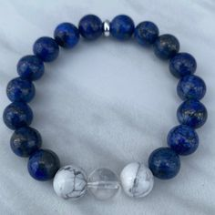 Do you need to enhance your 3rd eye? 👁️💙 Our 3rd eye bracelet is made with Lapis Lazuli, Clear Quartz & Howlite, which are all perfect for enhancing your 3rd eye and intuition! ✨🥰 #SHOP for your Crystal Bracelets! 🛍️ 🔗Link In Bio #spiritual #meditation #intuitive #spirituality #love #inspiration #selflove #motivation #metaphysical #empath #tarot #healing #lightworker #trust #energy #mindfulness #psychic #entrepreneur #chakras Crystal Bracelets, Crystal Jewelry, Crystal Beads, Crystals, 3rd Eye Chakra, Chakra Necklace, Crystal Shop, Crystal Meanings, Clear Quartz