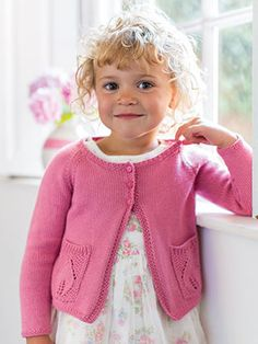 CAMELIA from Little Rowan Blossom (ZB203). A collection for girls aged 3 to 6 years, featuring 15 designs by Linda Whaley | English Yarns