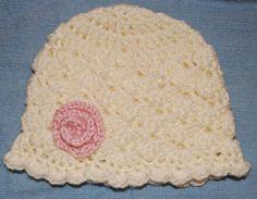 Crochet Shell Newborn Hat instructions