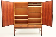 The inside of a great cabinet in rosewood designed and produced in Denmark around 1960. Attributed Niels O.Møller. www.reModern.dk