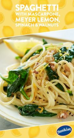 Great Try this Italian inspired dish that dresses up spaghetti with fresh Meyer lemon and creamy