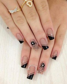 44 Stylish Manicure Ideas for 2019 Manicure: How to Do It Yourself at Home! Part 5 44 Stylish Manicure Ideas for 2019 Manicure: How to Do It Yourself at Home! Part manicure ideas; manicure ideas for short nails; Cute Acrylic Nails, Cute Nails, Pretty Nails, Winter Nail Art, Winter Nails, Summer Nails, Hair And Nails, My Nails, Nails Today