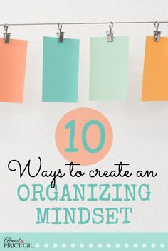 Creative organizing tips and ideas to help you find motivation to declutter your home and life. via @AlmostPractical