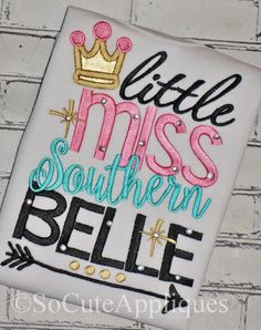 Embroidery design 5x7 Little Miss Southern by SoCuteAppliques