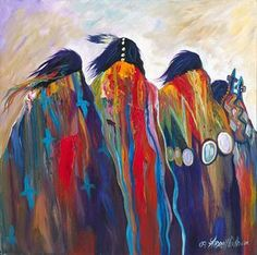 acrylic native american painting on canvas - Google Search