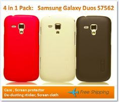 4 in one Pack for Samsung Galaxy Duos - S7562   http://www.accestories.com/849/88/cell-phone-accessories/samsung-accessories/samsung-s7562-galaxy-s-duos-super-shield-shell-cover-case-with-screen-protector-detail