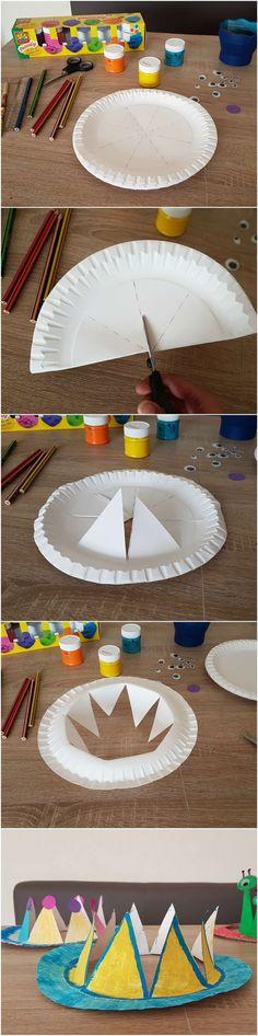 #Anleitung: #Pappteller #Krone und #Hüte #basteln mit #kinder - #Paper #Plate #Party #Crown #DIY -