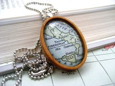 Map of Italy Necklace by ivcreations55 on Etsy, $28.00