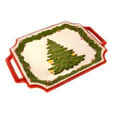 Christmas Tree Platter with Handles | Kirkland's