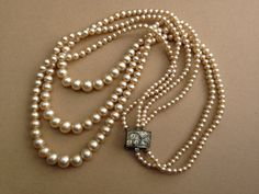 Vintage 1930s Faux Pearl necklace by thejunkdiva on Etsy, $25.00