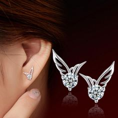 Girls Frog delicate Ear Studs 925 Sterling Silver