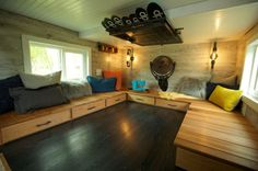 "The ""Ski Lodge"" Tiny House—A Ski-Lover's Paradise by Maximus Extreme Living Solutions Tiny House Movement // Tiny Living // Tiny House Living Room // Tiny Home Kitchen // Tiny House Swoon, Best Tiny House, Tiny House Design, Tiny House On Wheels, Tiny House Nation, Tiny House Movement, Tiny Houses For Sale, Little Houses, Small Houses"