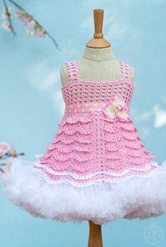 Sakura Top Crocheted Pattern for Kids 212 by mylittlecitygirl, $9.95