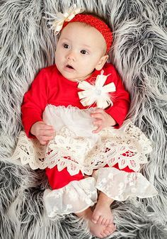 Peaches  n Cream Infant Red and Ivory Vintage Lace Legging Set W  Feather  Bow and Headband Fall 2015. Color Me Happy Boutique · Peaches n Cream  Clothes 8308d76ce
