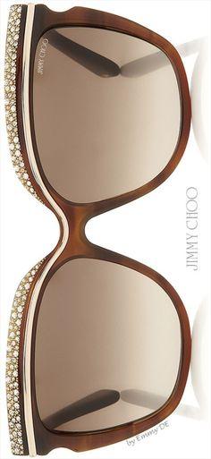 Emmy DE * Jimmy Choo 'Shophia' Crystal Adorned Havana Framed Sunglasses 2015