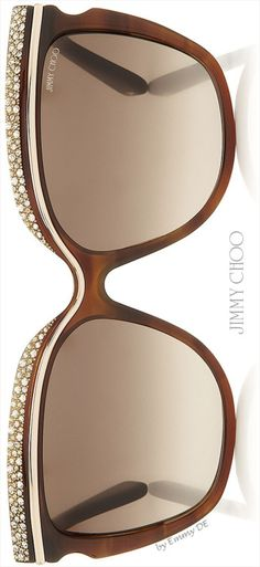 Emmy DE * Jimmy Choo 'Shophia' Crystal Adorned Havana Framed Sunglasses 2015