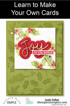 Learn how to make your own Christmas cards with the Stampin' Up! Peace