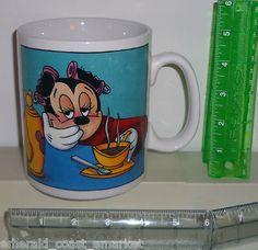 "Minnie Mouse Walt Disney Huge 5"" High X 4 Wide"" Ceramic Coffee Soup Mug Cup"