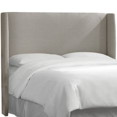 Found it at Wayfair - Remagne Polyester Wingback Headboard