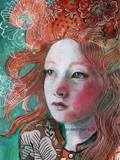 Mixed Media Portraits ~ by Maria Pace Wynters