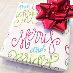 Merry and Bright Wrapping Paper Sheets  Custom by allshewrotenotes