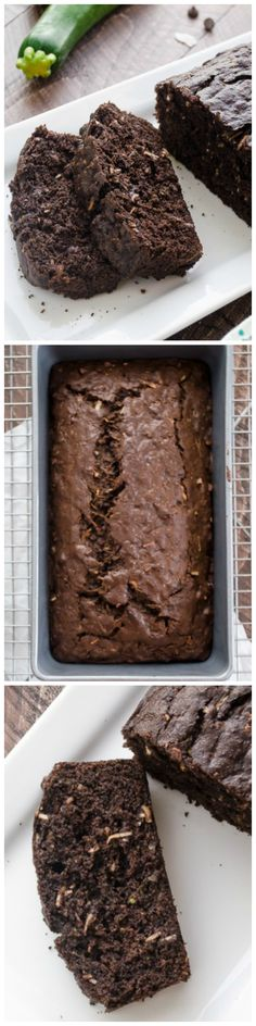 Dark Chocolate Coconut Zucchini Bread by flavorthemoments via wholeyum: Healthier whole wheat quick bread packed with grated zucchini, coconut, and big chocolate flavor. #Zucchini_Bread #Chocolate #Coconut #Whole_Wheat
