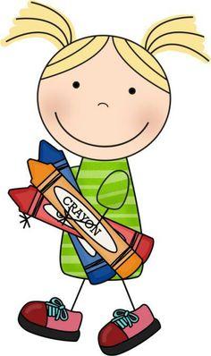 Sara at School: Graphics Art Drawings For Kids, Drawing For Kids, Art For Kids, Free Cliparts, Education Clipart, Kids Graphics, School Clipart, Stick Art, Doodle Coloring