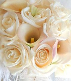 White wedding flowers  www.myfloweraffair.com
