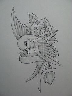 Tattoo Design 2009 2012 Madtattooz Flash Art Done In Tattoo Design Drawings, Cool Art Drawings, Pencil Art Drawings, Bird Drawings, Art Drawings Sketches, Beautiful Drawings, Colorful Drawings, Easy Drawings, Animal Drawings