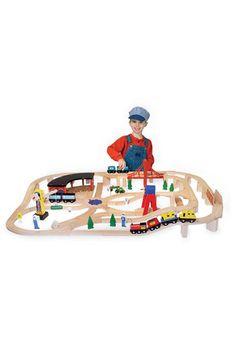Melissa & Doug 132-Piece Railway Set