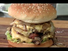 """Check out MY VERSION of what is being touted as """"The best burger west of the Rockies"""" The Shooting Star Saloon's Star Burger!"""