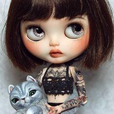 Poupée Blythe Custom Eden  chat créature Bodhi par