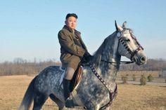 Kim Jong Un on horseback in an undated photo - http://www.PaulFDavis.com foreign policy speaker, international relations adviser (info@PaulFDavis.com)