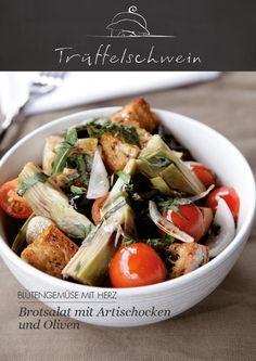 Brotsalat mit Artischocken und Oliven #veggie #mediterranean #artichoke