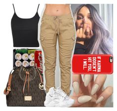 """Simple"" by msixo ❤ liked on Polyvore featuring MICHAEL Michael Kors, Topshop, Casetify and NIKE"
