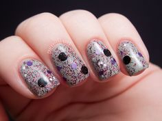 Pretty & Polished - Vampire Sing-a-Long [over SH-WetCement] (Mathematical!! Collection Fall 2012) / ChalkboardNails