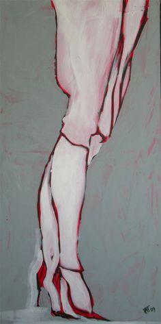 tango019 - 2009 acrylic on canvas - cm 50X100