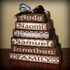 familynames wood blocks