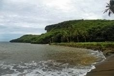Been Here! Green sands of Talofofo Beach - Guam, one of only 2 green sand beaches in the world.