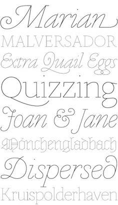 Marian es una tipografia elegante y litteraria con un toque de excentricidad.